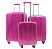 סט 3 מזוודות קשיחות בגדלים צבעים שונים סוויס פרדייס