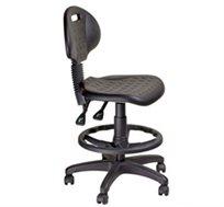 כסא מעבדה מקצועי מיציקת פוליאוריתן, בעל מנגנון 2 ידיות ובוכנה גבוהה