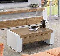 שולחן סלוני בסגנון מודרני דגם הוריזון בעל שתי מגירות