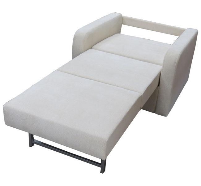 כורסא חד מושבית נפתחת למיטת יחיד ומרופדת בבד אריג מבית Or-Design דגם יפית+מתנה! - תמונה 3