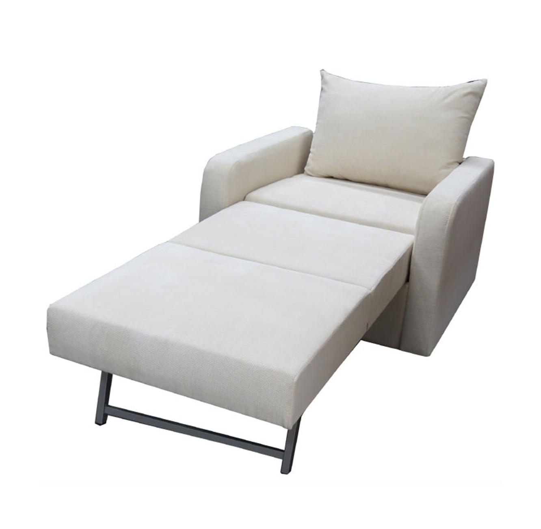 כורסא חד מושבית נפתחת למיטת יחיד ומרופדת בבד אריג מבית Or-Design דגם יפית+מתנה! - תמונה 2
