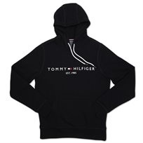 TOMMY HILFIGER גברים// LOGO HOODY JET BLACK