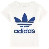 adidas חולצה (4-8 שנים) - לבן לוגו כחול