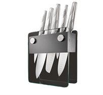 סט 5 סכינים + מעמד סכינים מאיר אדוני מבית ארקוסטיל מזכוכית