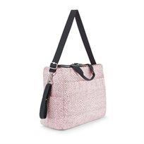 תיק החתלה ADORA BABY - Soft Pink Strורוד בייבי מקווקו