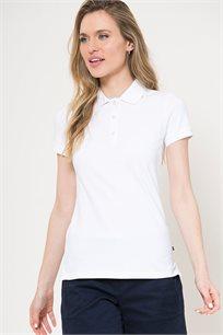 חולצת פולו לנשים - לבן