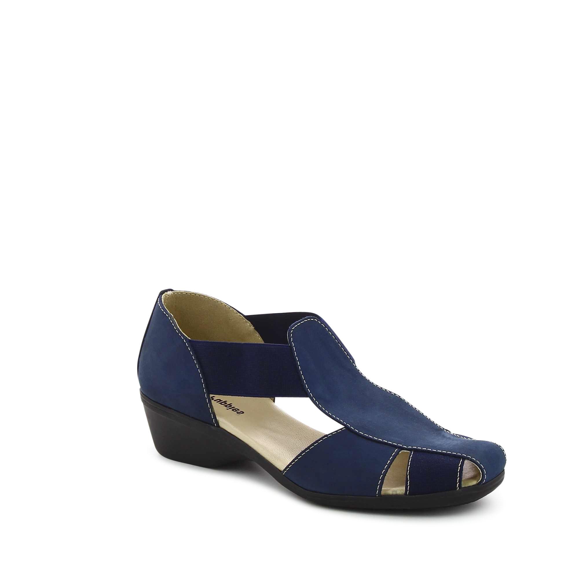 סנדלים כחולים עם רצועות גומי