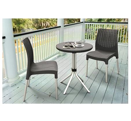 זוג כסאות מעוגלים במראה אלגנטי מפלסטיק איכותי , בעלי רגליים ממתכת  - תמונה 3