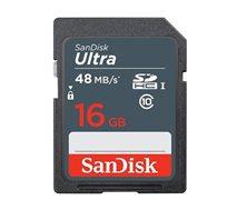 כרטיס זיכרון Ultra SDXC בנפח 16GB בתקן UHS-I 10 Class מהירות 48MB/s אחריות ל-7 שנים  SanDisk