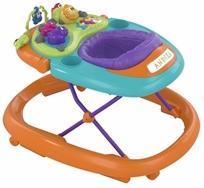 הליכון לתינוק עם פעלולון אלקטרוני ווקי טוקי - Walky Talky כתום/טורקיז/סגול