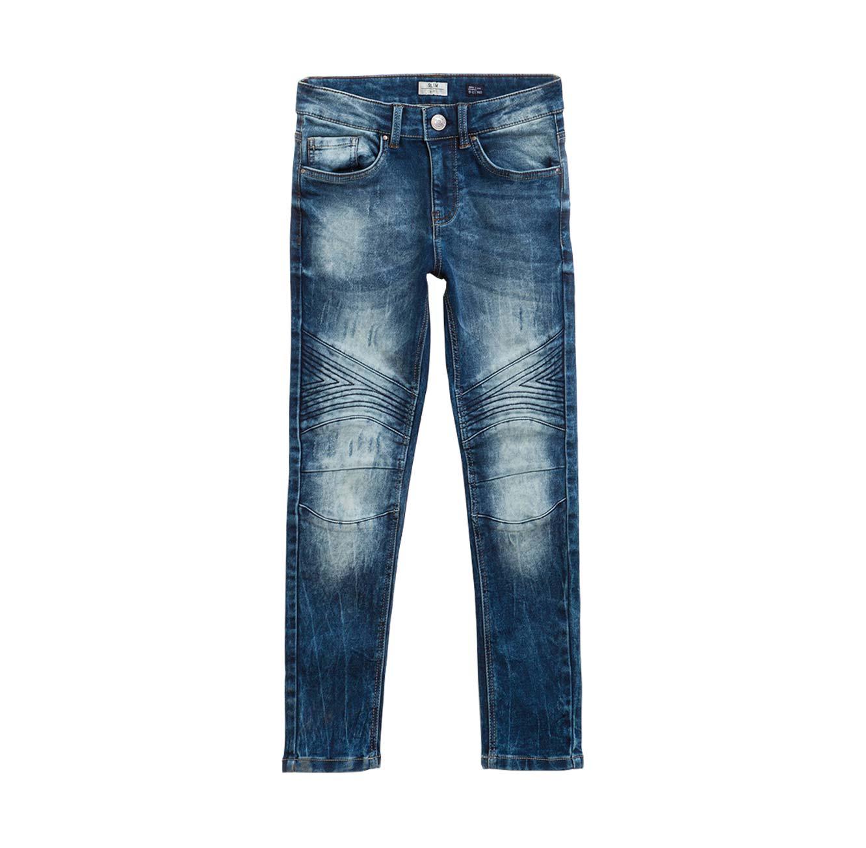 מכנסי ג'ינס OVS גזרת SLIM משופשף - כחול ים