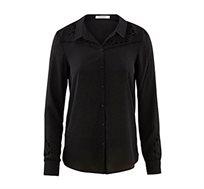 חולצת מכופתרת PROMOD - שחור