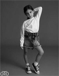 ORO/ חצאית ג'ינס (16-2 שנים) - כחול בהיר