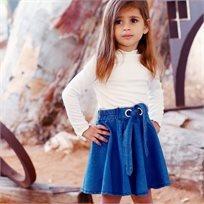 חולצת Oro לילדות (מידות 4-9 שנים) פולו בייסיק לבנה