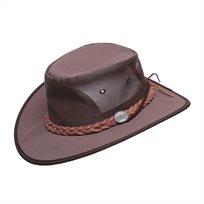 Barmah 1057 BR - כובע קנבס רשת בצבע חום