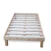 """מיטת יחיד 80*190 ס""""מ מעץ מלא כולל מסגרת למזרן דגם תומר מבית Vaya"""