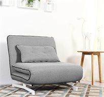 כורסת בד בעיצוב מודרני וצעיר נפתחת למיטת יחיד דגם נובו HOME DECOR