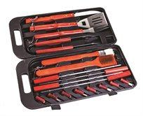 סט 18 כלים לגריל בתוך מארז של מזוודה מפלסטיק מבית CAMPTOWN - משלוח חינם!