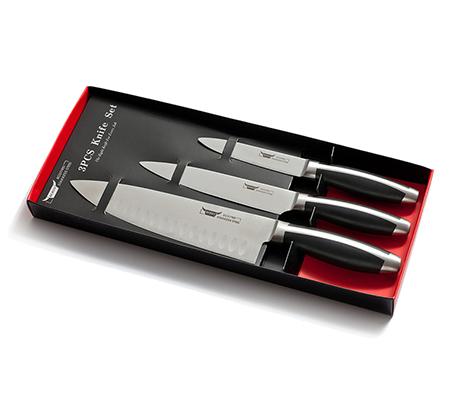 סט מהודר 3 סכינים כולל סכין שף, סכין עזר וסכין צר מחוזק מבית BEROX - משלוח חינם - תמונה 2