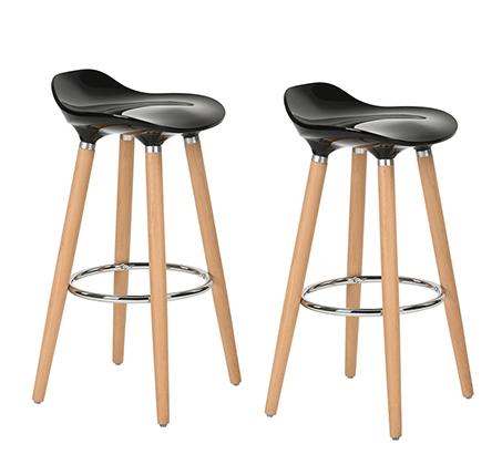 כיסא בר יוקרתי ומעוצב דגם יסמין רגליים מעץ עם משענת לרגליים בגוון כרום HOMAX - משלוח חינם - תמונה 7