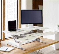 שולחן כתיבה עומד עם גובה מתכוונן, מעוצב עם משטח עליון מרווח ומשטח תחתון למקלדת ועכבר VARIDESK  - משלוח חינם