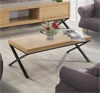 שולחן לסלון בעיצוב מודרני בעל רגלי מתכת שחורות דגם אופיר