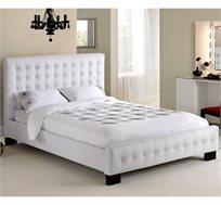 מיטה זוגית GAROX בריפוד עור עם ארגז מצעים 140X190 דגם CHRISTINA