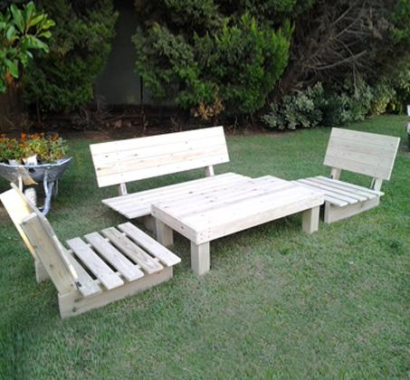 פינת זולה קלאסית מעץ אורן איכותי, הכוללת ספסל זוגי, 2 ספסלי יחיד ושולחן - תמונה 3