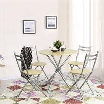 פינת אוכל הכוללת שולחן וארבע כיסאות דגם בריטני - למרפסת, לחצר או לפינת האוכל Homax