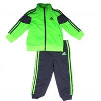 adidas חליפה (3 - 24  חודשים) - ירוק זוהר