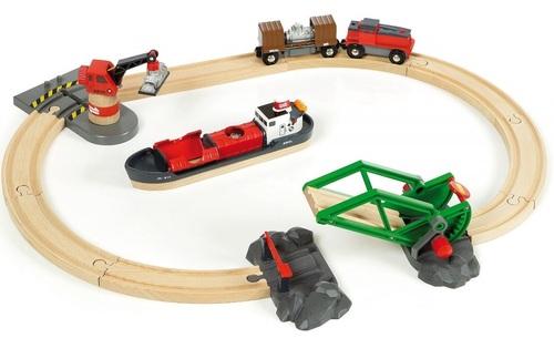 סט רכבת מטען חשמלית עם נמל פריקה וטעינה 33061