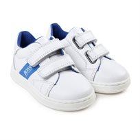 BOSS בוס נעלי סניקס (מידות 20-26) - לבן פס כחול