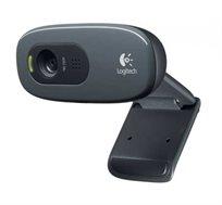 מצלמת רשת Logitech בעלת חיבור USB ומיקרופון מובנה המצלמת באיכות HD 720p