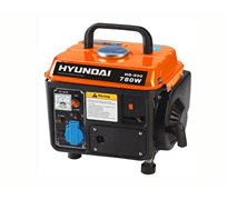 """מגנרטור """"פיקניק"""" נייד 780W מנוע תערובת 2 פעימות מבית HYUNDAI זמן פעולה בין 4 - 7 שעות -מתצוגה"""