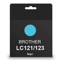 על איכות לא מתפשרים! ראש דיו תואם BROTHER LC121/123 צבע כחול, דיו איכותי למדפסת