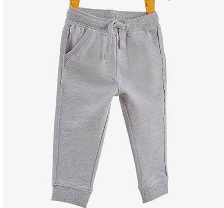 מכנסי PANT IN FRENCH TERRY OVS לפעוטות - אפור