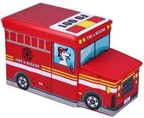 ארגז מעוצב לאחסון צעצועים בצורת כבאית
