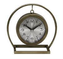 שעון שולחני מוזהב תלוי ממתכת