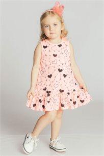 שמלת טריקו Kiwi לילדות בצבע ורוד פוקסיה