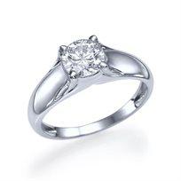 """טבעת אירוסין זהב לבן """"מורן"""" 1.01 קראט בעלת מראה מרשים ויוקרתי"""