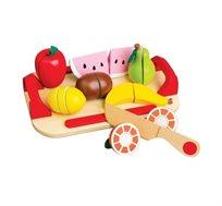 משחק לילדים ערכת חיתוך פירות מעץ BGIFTS