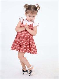 שמלת קולר פגי אדום ילדים סטייל ריבר