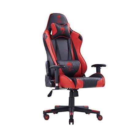 כיסא גיימרים DRAGON GAME CHAIR CEASAR RED  - משלוח חינם - תמונה 2