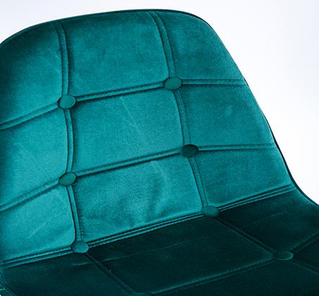כיסא לפינת אוכל נוח מעוצב בריפוד בד קטיפה במגוון צבעים לבחירה - תמונה 7