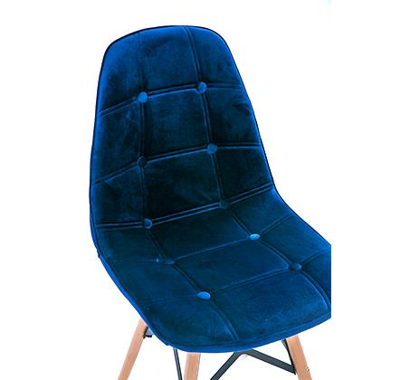כיסא לפינת אוכל נוח מעוצב בריפוד בד קטיפה במגוון צבעים לבחירה - תמונה 4