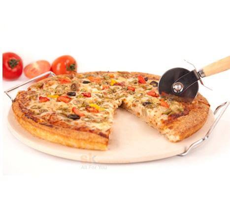 עדכני פיצה מושלמת ב-5 דקות! אבן שמוט קרמית לאפייה מהירה של מאפים, תהפוך GO-44