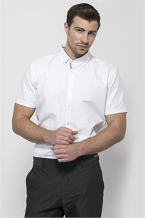 חולצה מכופתרת שרוול קצר