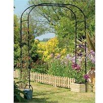 קשת רחבה במיוחד ממתכת לתמיכת צמחים בגינה