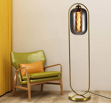 מנורת עמידה מעוצבת בסגנון מודרני דגם שוהם סמוקי