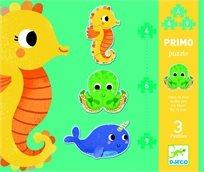 פאזל פרימו 4-6-9 - חיות הים - Djeco